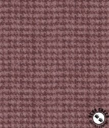 Maywood Studio Woolies Flannel Houndstooth Mauve