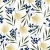 Hoffman Fabrics Meet Magnolia Berries Blue Jay