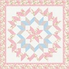 Eaton Place Floral Kaleidoscope (Pink) Free Quilt Pattern
