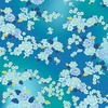 Hoffman Fabrics Graceful Garden Floral Bouquet Aqua/Gold