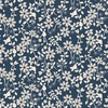 Clothworks Rosewood Small Floral Navy