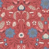 Lewis and Irene Fabrics Michaelmas Little Bird Floral Red