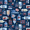 Studio E Fabrics A Whale Of A Time Ships in Bottles Navy