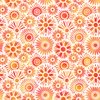 In The Beginning Fabrics Unusual Garden II Blooms White/Orange