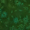 In The Beginning Fabrics Seasons Night Flowers Green