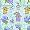 Henry Glass Hydrangea Birdsong Small Blocks