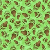 Elizabeth's Studio Adventures Of Bear And Friends Paw Prints Green