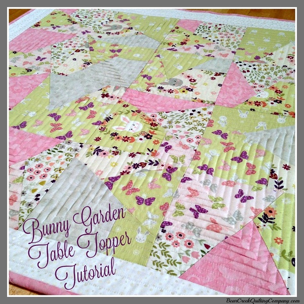 Bunny Garden Table Topper Tutorial