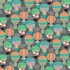 Studio E Fabrics Owl's Woodland Adventure Hot Air Balloons Dark Gray