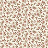 Maywood Studio Burgundy and Blush Vintage Calico Ecru