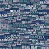 Riley Blake Designs Deep Blue Sea Text Navy