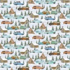 Henry Glass Snowy Woods Cars Campers Cabins Multi