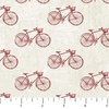 Northcott Paris Always A Good Idea Bicycles Cream/Red