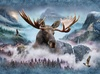 Hoffman Fabrics Call Of The Wild Moose Panel