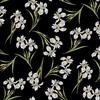 Benartex Magnificent Blooms Iris Black