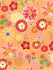 Wilmington Prints Sing Your Song Packed Floral Orange