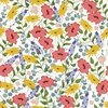3 Wishes Fabric Feed The Bees Allover Floral White