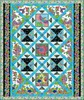 Rainbow Flight (Teal) Free Quilt Pattern