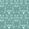 Lewis and Irene Fabrics Michaelmas Teal Mono Floral