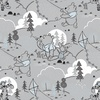 Camelot Fabrics Winnie the Pooh Wonder Whimsy Cloud and Kites Light Grey