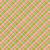 Clothworks Garden Notes Plaid Coral