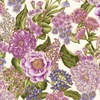 Robert Kaufman Fabrics Avery Hill (Lavender) Large Bouquets Ivory