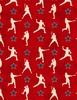 Wilmington Prints 7th Inning Stretch Player Silhouettes Red
