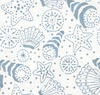 Maywood Studio Coastal Getaway Batiks Seashells Natural/Blue