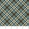 Northcott Outdoor Adventures Flannel Diagonal Plaid Wedgewood
