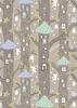 Lewis and Irene Fabrics Fairy Lights Fairy Houses Natural