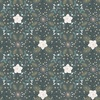 Lewis and Irene Fabrics Winter in Bluebell Wood Floral Geometric Dark Grey