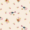Clothworks Rosewood Floral Birds Light Khaki