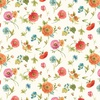 Wilmington Prints Roots of Love Floral Toss Ivory