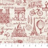 Northcott Paris Always A Good Idea Toile Red