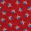 Moda America the Beautiful Tossed Flag Star Barnwood Red