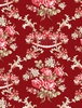 Wilmington Prints Rhapsody In Reds Floral Damask Red
