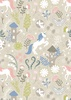Lewis and Irene Fabrics Fairy Lights Unicorn Forest Natural