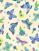 Wilmington Prints Floral Flight Butterfly Cream