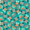 Studio E Fabrics Owl's Woodland Adventure Tossed Teal