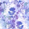 In the Beginning Fabrics Garden of Dreams Sprigs Purple Brilliance