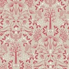 Lewis and Irene Fabrics Winter in Bluebell Wood Animal Kaleidoscope Red