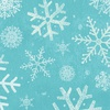 Clothworks Winter Woodland Snowflakes Light Teal