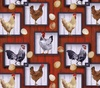 Blank Quilting Country Paradise Chickens and Eggs Red