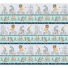 Clothworks Bike Ride Border Pewter