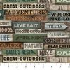 Northcott Outdoor Adventures Flannel Signs