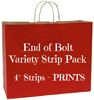 "End of Bolt Variety Strip Pack - 4"" PRINTS"