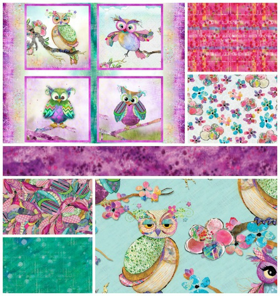 Boho Owls by 3 Wishes Fabrics