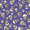 Quilting Treasures Spellbound Skulls Purple
