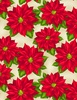 Wilmington Prints Holiday Lane Poinsettia Tan