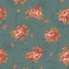 Andover Fabrics Bed of Roses Dahlia Dusty Blue